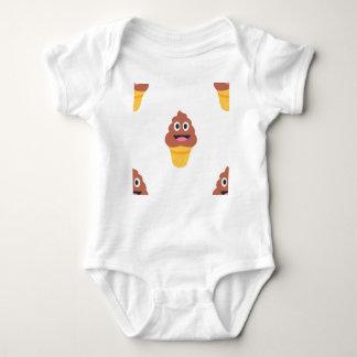 ice cream cone poo emoji baby bodysuit