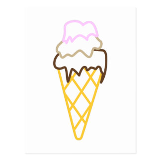 Ice Cream Cone Postcard