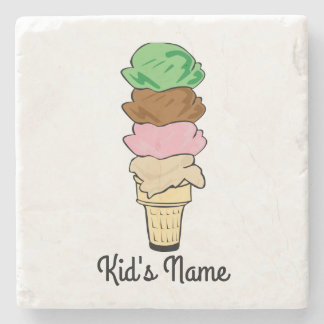 Ice Cream Cone Stone Beverage Coaster