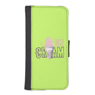 Ice Cream Cone Sweet Green Phone Wallet Cases