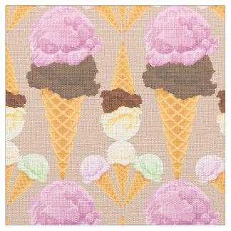 Ice Cream Cones Fabric