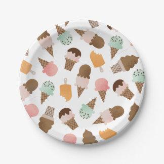 Ice Cream Cones Paper Plates