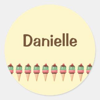 Ice Cream Cones Round Sticker
