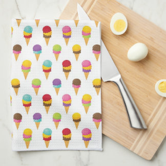Ice Cream Cones Kitchen Towel