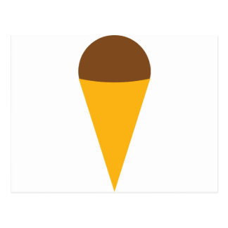 ice-cream cornet icon postcard