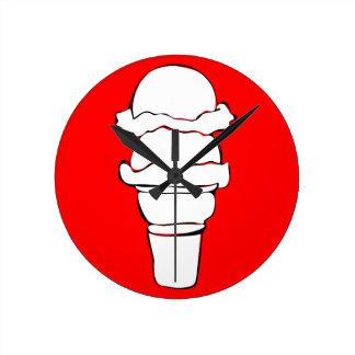 ice cream curls wallclock
