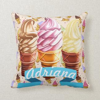 Ice Cream Cutie Decorative Pillow