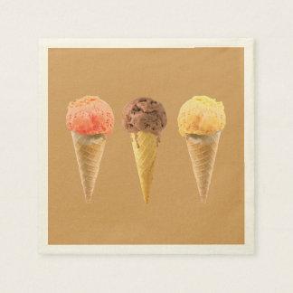 Ice cream disposable serviettes