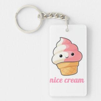 Ice cream Double-Sided rectangular acrylic key ring