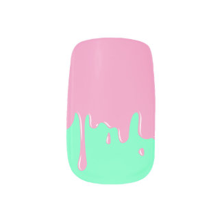 Ice Cream Drips Nail Art