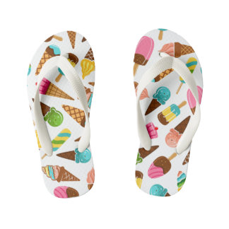 Ice Cream Flip Flops, Kids and Toddlers Kid's Thongs