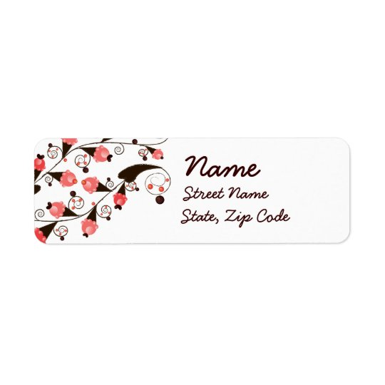 Ice Cream Flower Pattern Return Address Label
