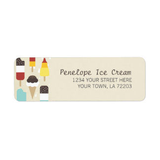 Ice Cream & Frozen Treats Return Address Labels