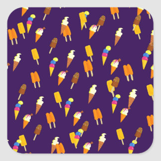 Ice cream, goodies and treats square sticker