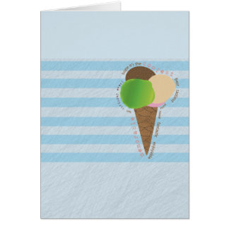 Ice Cream Happy Birthday Card