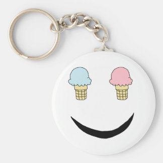 Ice Cream Happy Face Key Chains