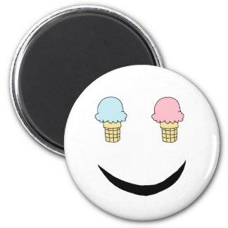Ice Cream Happy Face Magnet