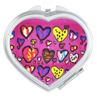 ice cream heart mirror for makeup
