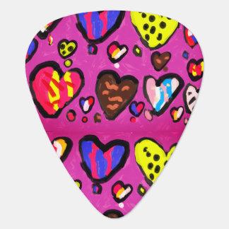 ice cream heart plectrum