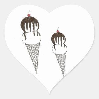 Ice Cream Heart Sticker