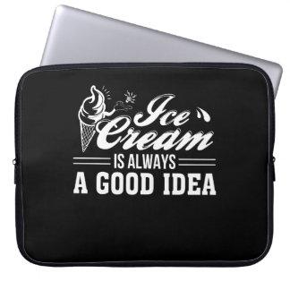 Ice Cream Is Always Good Idea Ice Cream Laptop Sleeve