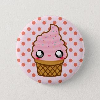 Ice Cream KawaiiGoods.Com Logo 6 Cm Round Badge