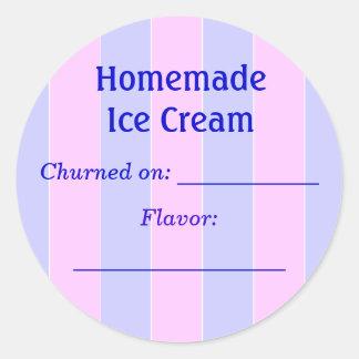 Ice Cream Label Sticker