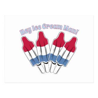 Ice Cream Man Postcard