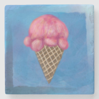 Ice Cream Marble Coaster Stone Beverage Coaster