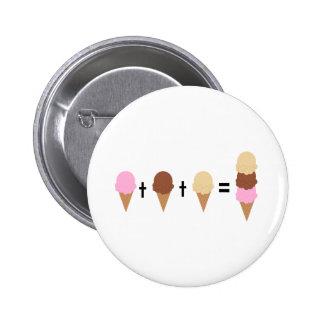 Ice Cream Math 6 Cm Round Badge