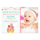 Ice Cream Mint Pink Party Birthday Invitation