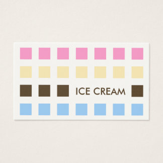ICE CREAM (mod squares) Business Card