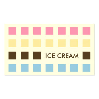 ICE CREAM (mod squares) Pack Of Standard Business Cards