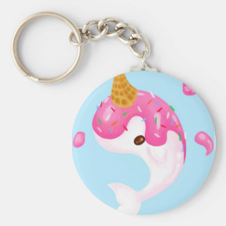 Ice cream narwhal Keychain