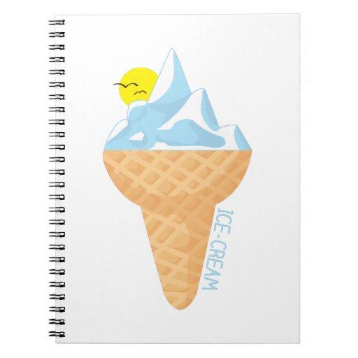 Ice Cream Spiral Note Books