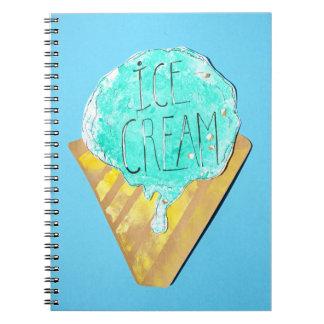Ice Cream Notzizbuch Notebook