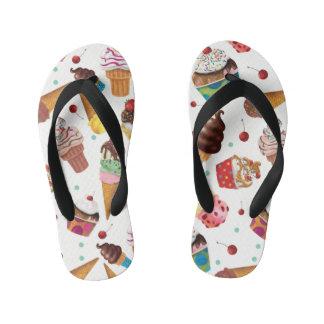 Ice Cream Novelty Print Flip Flops Thongs