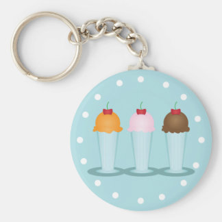 Ice Cream Parlor Keychains
