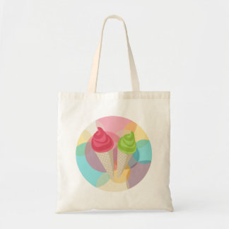 Ice cream party budget tote bag