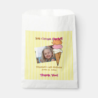 Ice Cream Party Custom Favour Bags