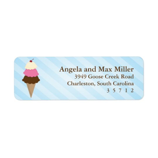 Ice Cream Party Labels