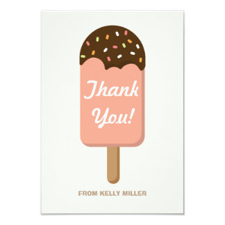 Ice Cream Party - Thank You Card