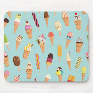 Ice cream pastels mouse pad