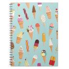 Ice cream pastels notebook