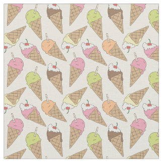 Ice cream pattern fabric