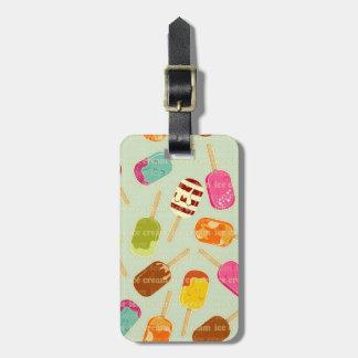 Ice Cream Pattern Luggage Tag