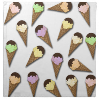Ice cream pattern napkin