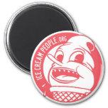 """Ice Cream People """"retro logo"""" Magnets"""
