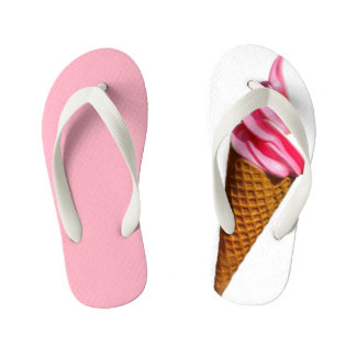 ice cream pink flip-flop kid's thongs