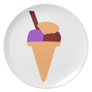 Ice Cream Dinner Plate